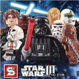 8 Mini Figurines SY Star Wars SY198 bloc Lego compatibles