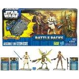 Hasbro - 35566 - Star Wars - Battle Packs - 3 figurines + cartes de jeu de combat - assault on geonosis