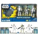 Hasbro - 35579 - Star Wars - Battle Packs - 3 figurines + cartes de jeu de combat - defend kamino