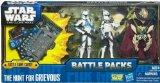 Hasbro - 35580 - Star Wars - Battle Packs - 3 figurines + cartes de jeu de combat - the hunt for grievous