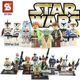 STAR WARS LOT DE 8 MINI FIGURINES COMPATIBLE LEGO YODA LUKE SKYWALKER