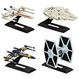 Star Wars - The Black Series - Titanium Series - 4 Mini Véhicules 6 cm + Supports