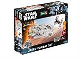 Revell Maquette Star Wars Jakku Combat Set Reproduction à l'échelle 1:51, niveau 1 avec Light & Sound