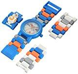 Montre figurine BB-8 de LEGO Star Wars Les dernier Jedi pour enfant à construire bleu/orangeplastique diamètre du cadran 28mm à quartz analogique garçon/fille produit officie