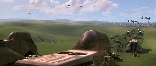 Armée droïde avance vers theed