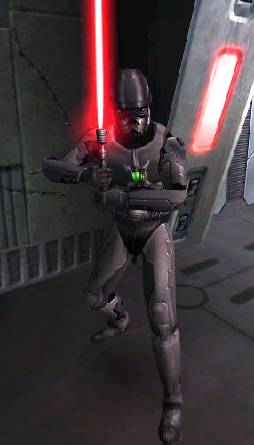 Armure noire de Shadowtrooper
