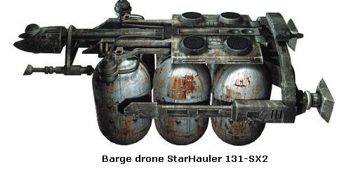Barge drone