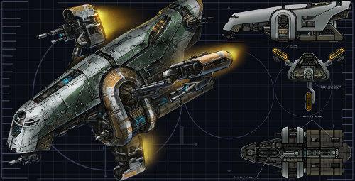 Vaisseau de patrouille mante d5 encyclop die star wars for Interieur vaisseau star wars