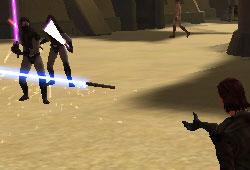 Lancer de sabre laser